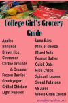 Dorm Room Grocery Guide