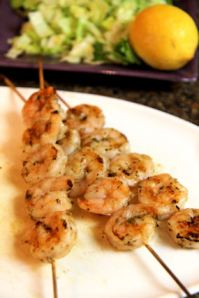 Pesto Shrimp Kabob