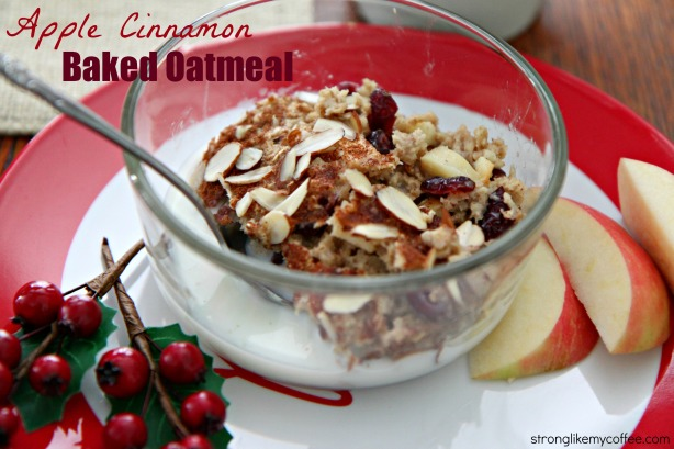 Baked Apple Cinnamon Oatmeal breakfast (stronglikemycoffee