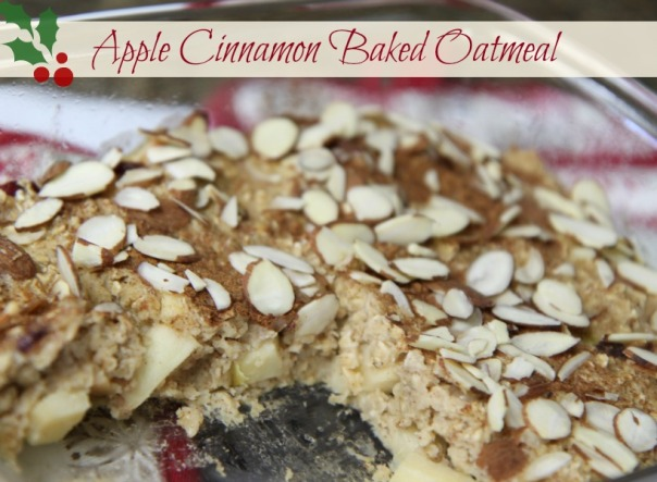Baked Apple Cinnamon Oatmeal with almonds (stronglikemycoffee.com)