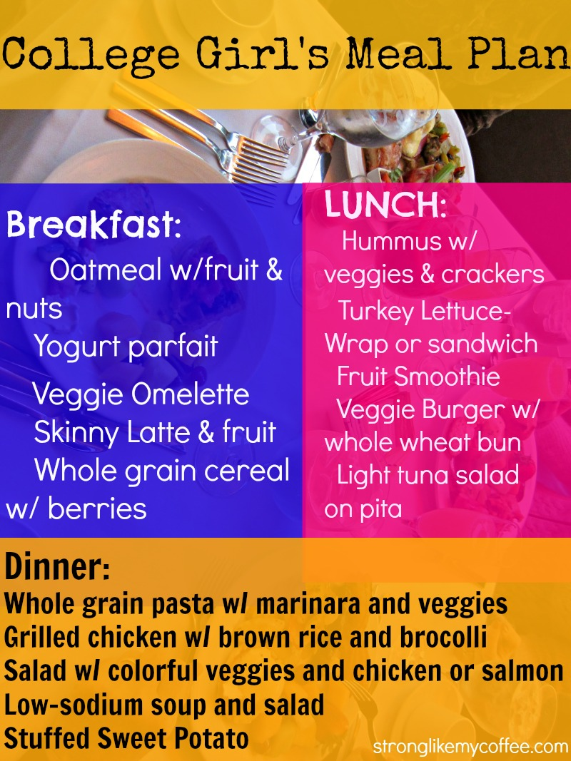 easy healthy diet plan for college students