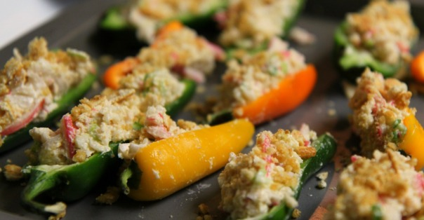 Crab Filled Jalapeno Poppers from Stronglikemycoffee.com