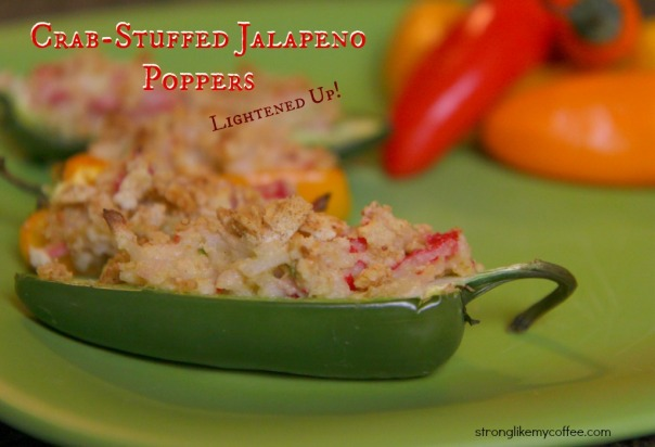 Crab Stuffed Jalapeno Poppers by Stronglikemycoffee.com