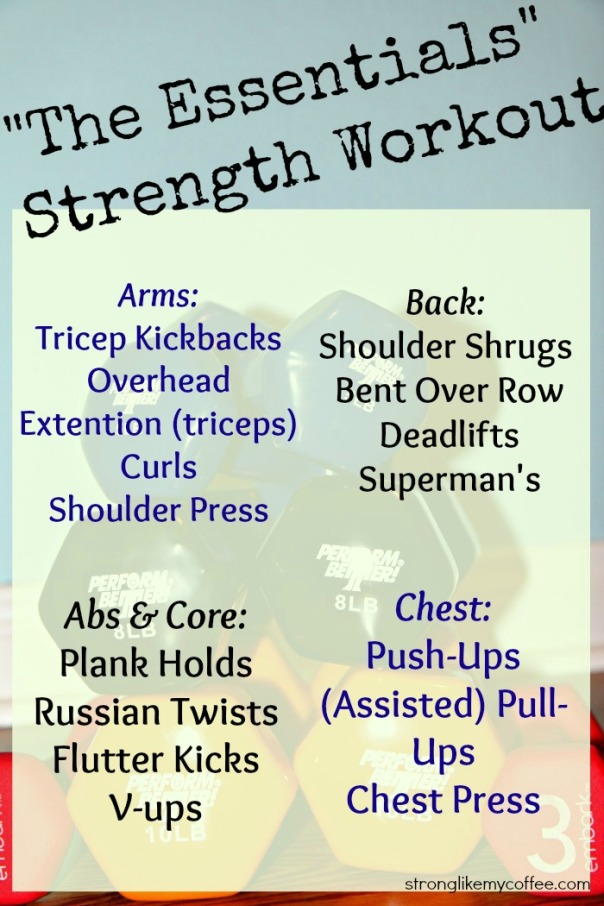 the essentials strength workout (stronglikemycoffee.com)