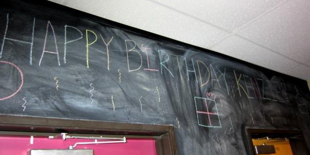 Birthday in chalk