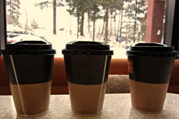 Coffee cups & a view. Sunday morning at it's finest.