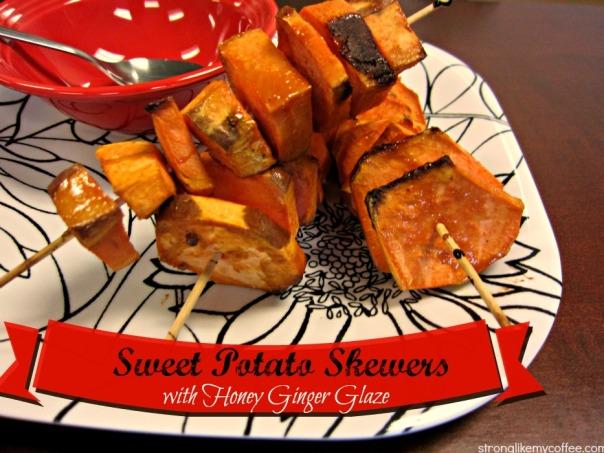 Sweet Potato Skewers with Honey Ginger Glaze from stronglikemycoffee.com