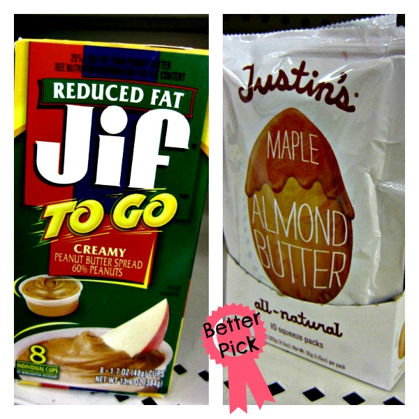 Healthy Grocery Swaps - Jif to go vs Justins (stronglikemycoffee.com)
