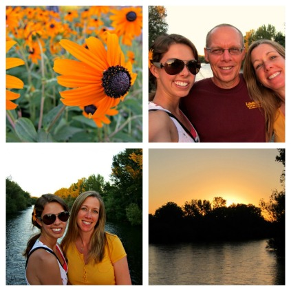 Boise River sunset collage (stronglikemycoffee