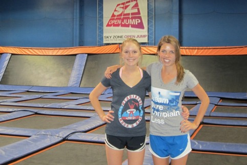 Chelsea and me at Sky Zone (stronglikemycoffee.com)