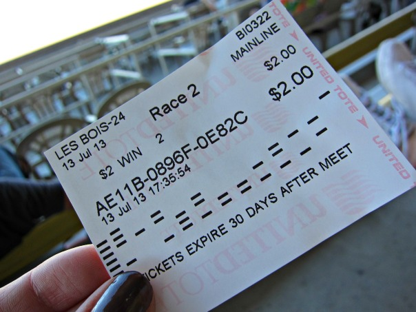 Horseracing ticket (stronglikemycoffee.com)