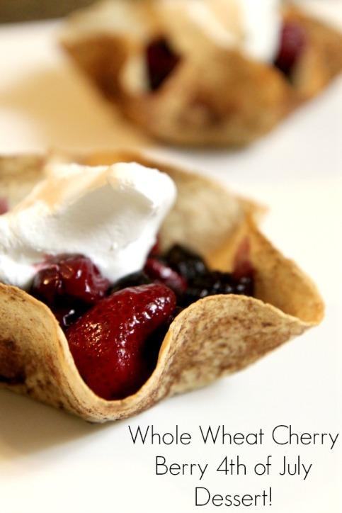 Whole Wheat Cherry Berry 4th of July Dessert (stronglikemycoffee.com)