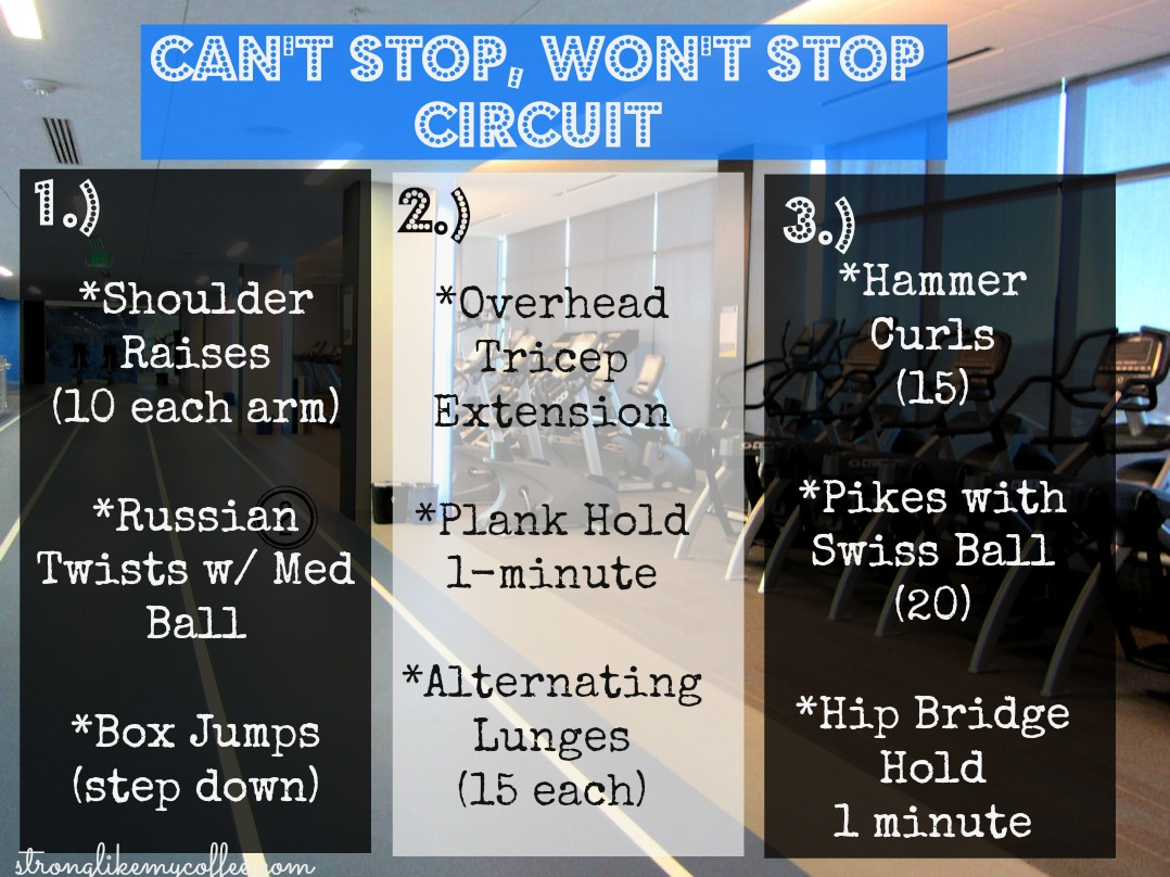 Can't Stop, Won't Stop Circuit