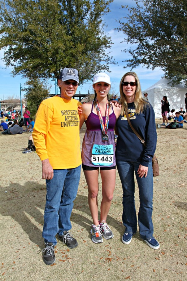 Marathon family at the finish (stronglikemycoffee.com)