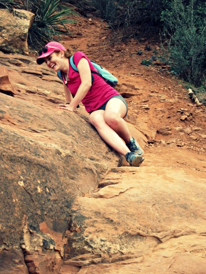 Cathedral Rock Hike descent (stronglikemycoffee.com)