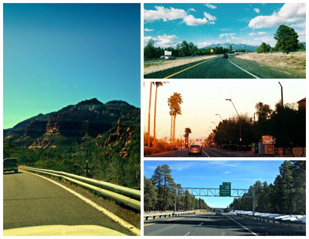 Driving around Arizona Collage