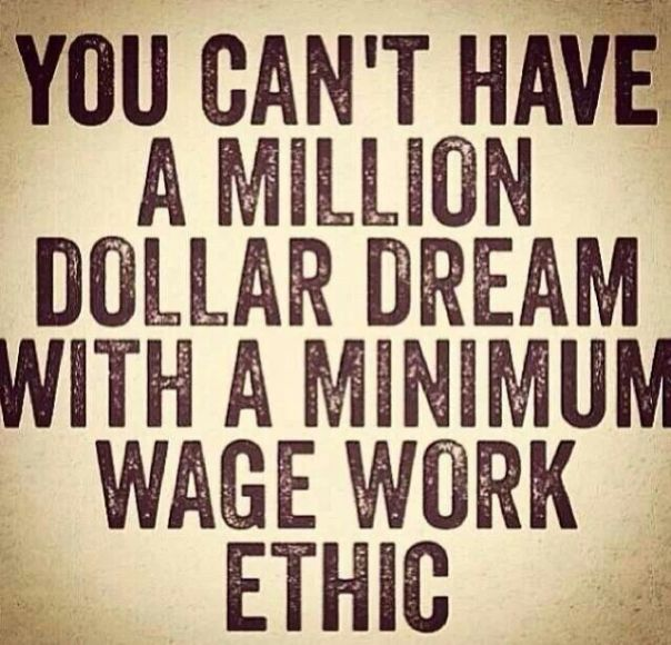 Inspirational Quote about work ethic