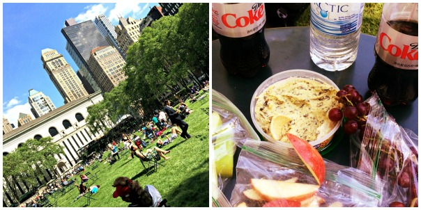Bryant Park Picnic in spring (stronglikemycoffee.com)