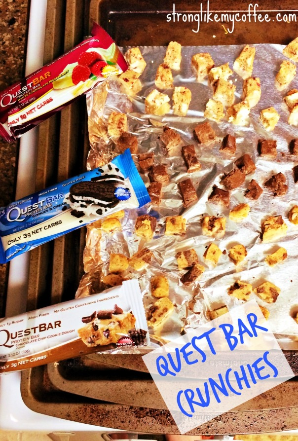 Quest Bar Crunchies on Stronglikemycoffee.com Blog  HEALTHY CLEAN SNACK or DESSERT