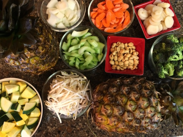 Pineapple Stir Fry Ingredients