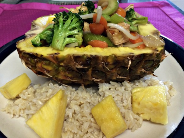 Stir Fry Pineapple Boat from Stronglikemycoffee.com