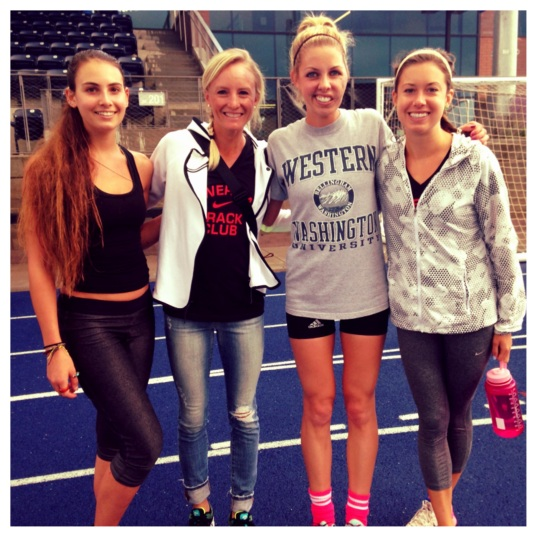 Shalane Flanagan at Track Practice (Stronglikemycoffee.com)