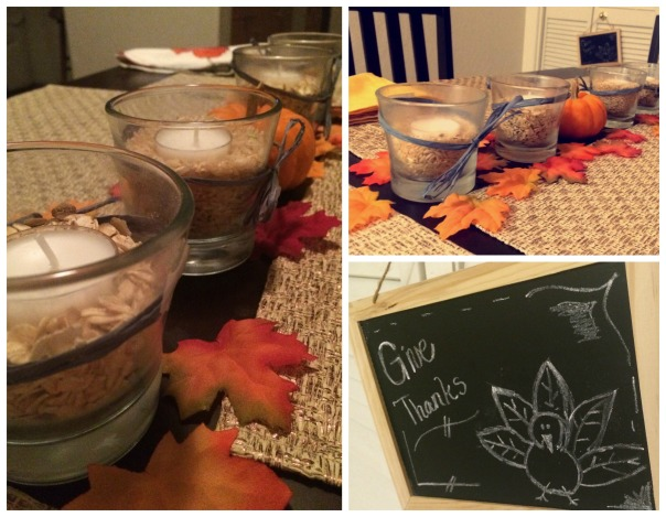 Thanksgiving 2014 decoration collage