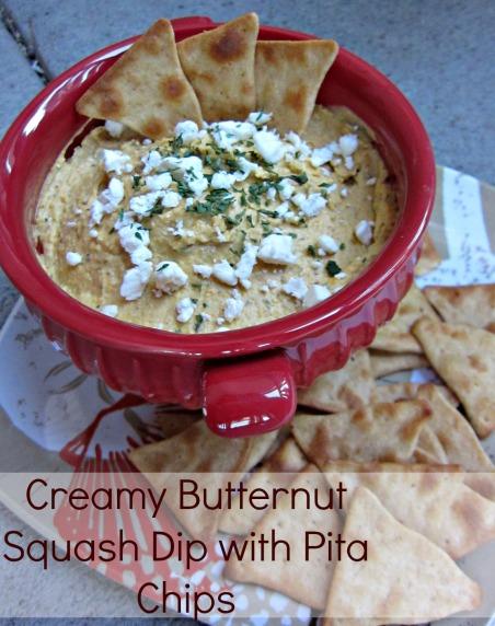 Creamy Butternut Squash Dip with Pitas (Stronglikemycoffee.com)