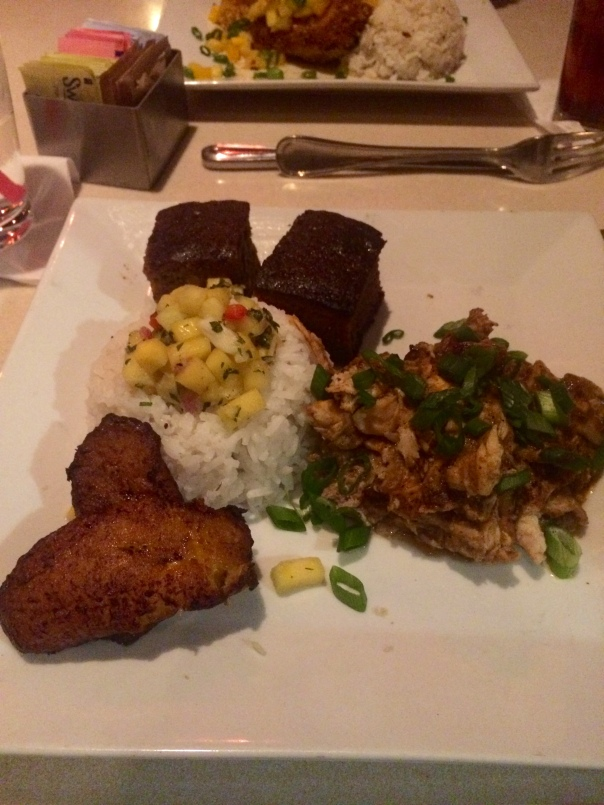 Jawaiian Jerk Chicken Plate at Hula's modern tiki (stronglikemycoffee.com)