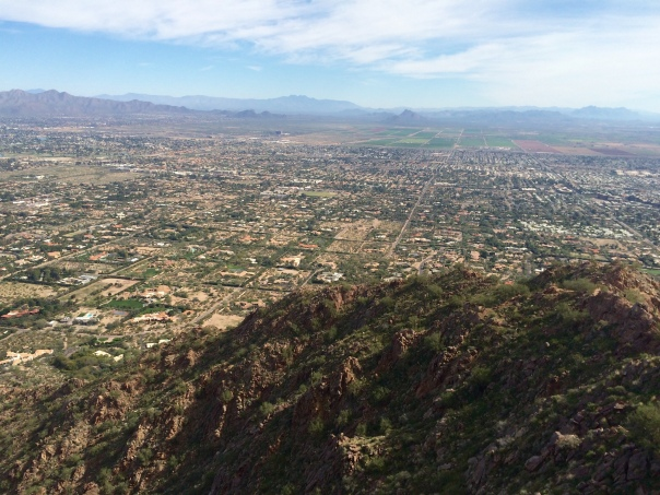 View from the top of Camelback Mountain Phoeniz, AZ (stronglikemycoffee.com)