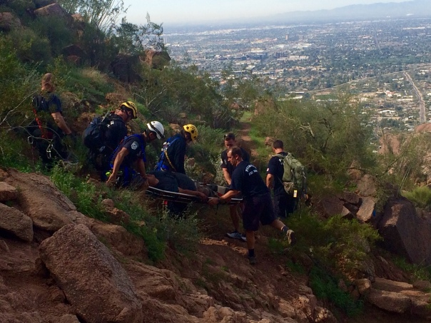 Firemen rescue on Camelback Mountain (stronglikemycoffee.com)