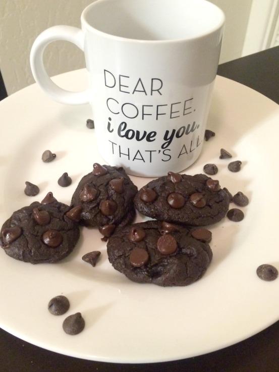 Vegan Gluten Free Chocolate Cookies made with avocado recipe and blog post (stronglikemycoffee.com)