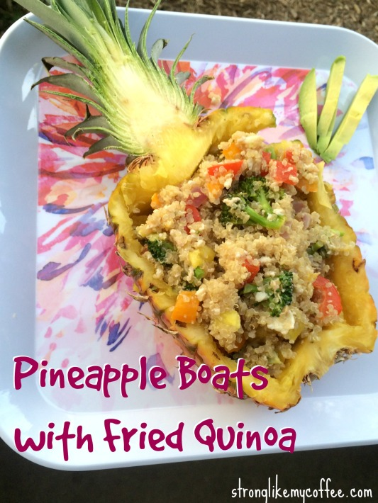 Amazing Healthy Pineapple Boats with Fried Quinoa Recipe on Strong Like My Coffee blog  Stronglikemycoffee.com