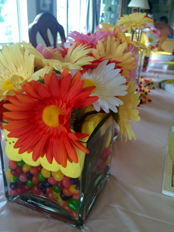 Easter Table Centerpiece on Strong Like My Coffee at Stronglikemycoffee.com