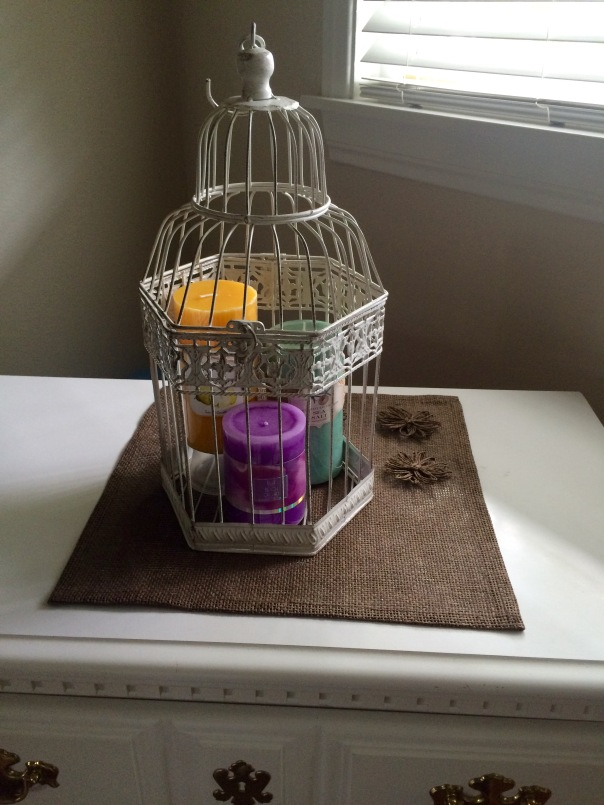 Birdcage decoration candle centerpiece | Stronglikemycoffee.com