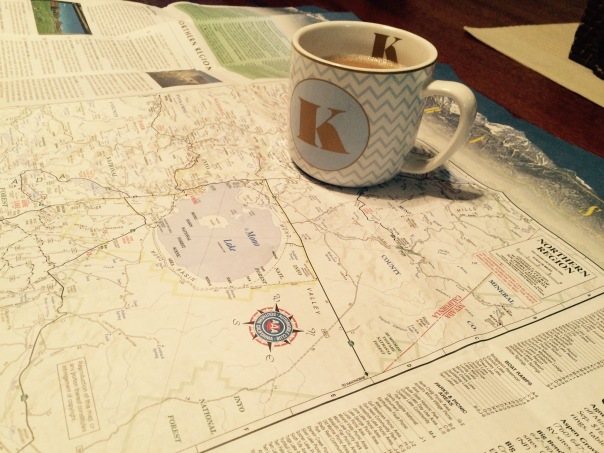 Planning the summer's adventures / Map and Coffee | Stronglikemycoffee.com