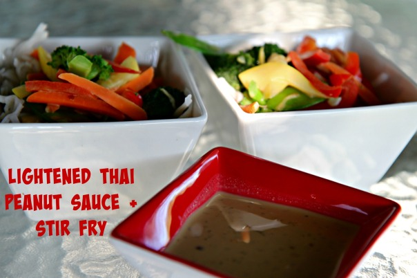 Lightened Thai Peanut Sauce Recipe and Stir Fry  Stronglikemycoffee.com