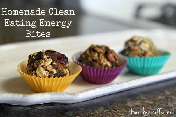Homemade Clean Eating Energy Bites on Strong Like My Coffee  Stronglikemycoffee.com