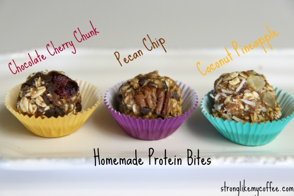 Homemade Protein Bite Flavors on Stronglikemycoffee.com