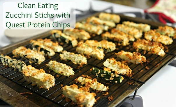 Quest Protein Chip-crusted Zucchini Sticks  Stronglikemycoffee.com