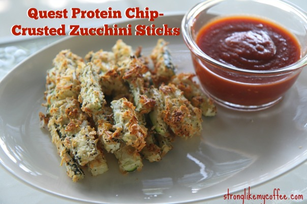 Quest Protein Chip Zucchini Sticks Recipe on Stronglikemycoffee.com