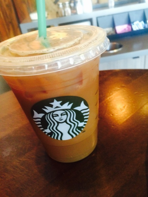 Iced Decaf Americano with nonfat and sugar free vanilla | stronglikemycoffee.com