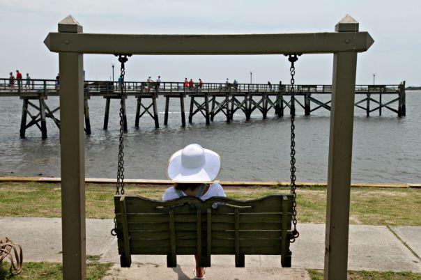 Southport Beach NC Swings Safe Haven  Stronglikemycoffee.com