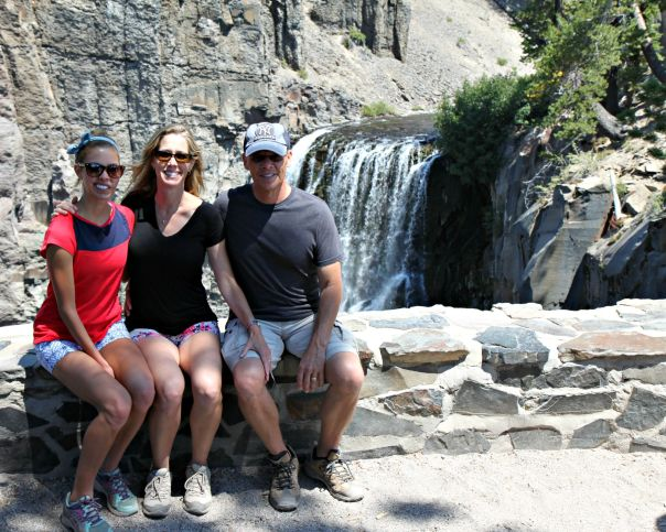Family pic at Rainbow Falls Mammoth