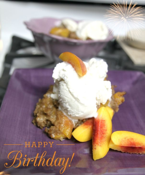 Birthday Peach Cobbler  Stronglikemycoffee.com