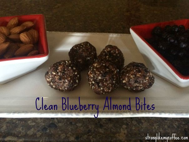 Clean Blueberry Almond Bite Recipe  Stronglikemycoffee.com