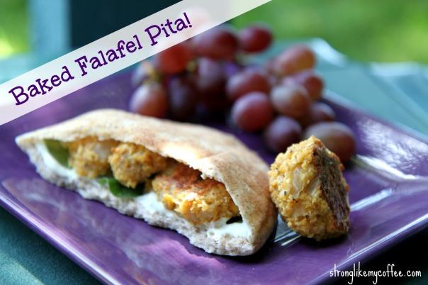 Baked Falafel Pita Stronglikemycoffee.com