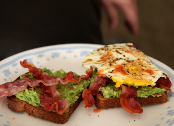 Bacon Egg Avocado Toast Stronglikemycoffee.com