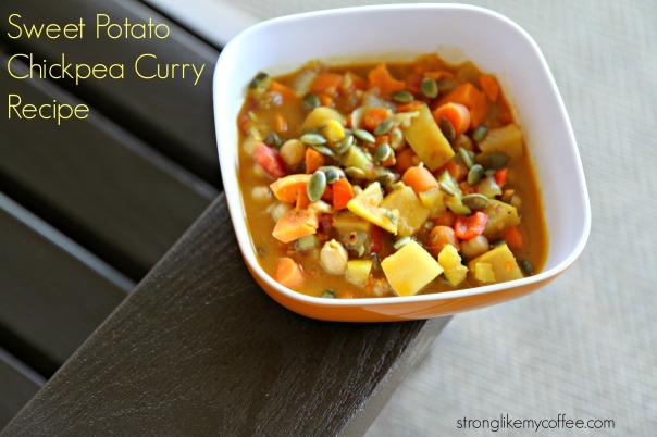 Sweet Potato Chickpea Curry Stronglikemycoffee.com