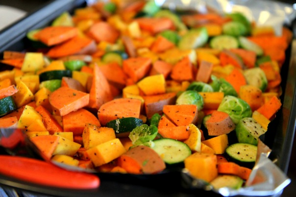 Roasted Veggie Tray for Girls Night In Stronglikemycoffee.com